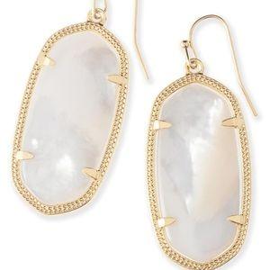Kendra Scott Elle white mother of pearl earrings